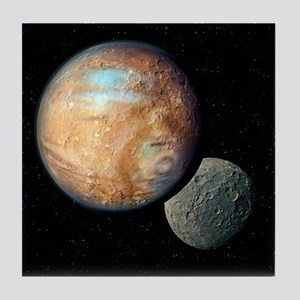 Pluto and Charon - Tile Coaster